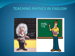 Physics in English - An Inconvenient Truth