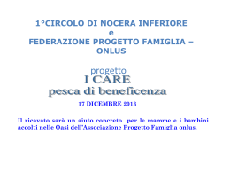 Progetto I care: pesca di beneficenza
