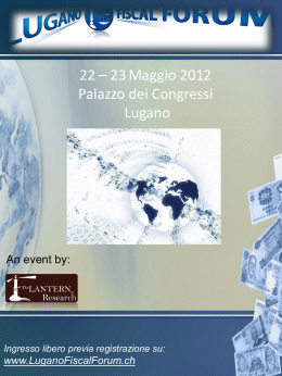 Slide 1 - Lugano International Fiscal Forum