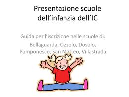 Presentazione INFANZIA - IC Dosolo Pomponesco Viadana