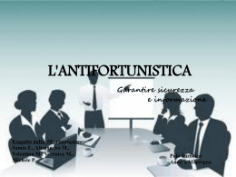 L`antifortunistica 2.0