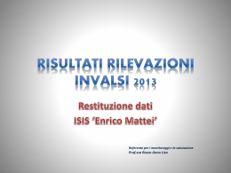 Diapositiva 1 - home. ISIS ENRICO MATTEI CERVETERI