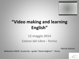 Video making and learning English - Dante Alighieri Torino scuola