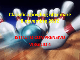Classifica bowling oltremare 8 novembre 2012
