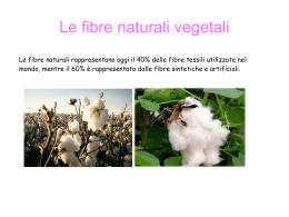 Le fibre naturali vegetali (Meghi)