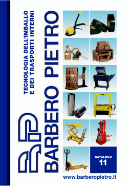 Catalogo in PDF - BARBERO PIETRO SPA