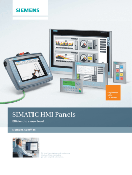 SIMATIC HMI Panels - Efficient to a new level