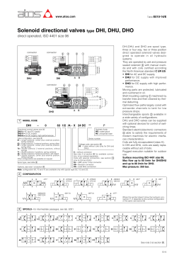Solenoid directional valves type DHI, DHU, DHO