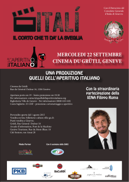 Flyer evento - Quelli dell`Aperitivo Italiano