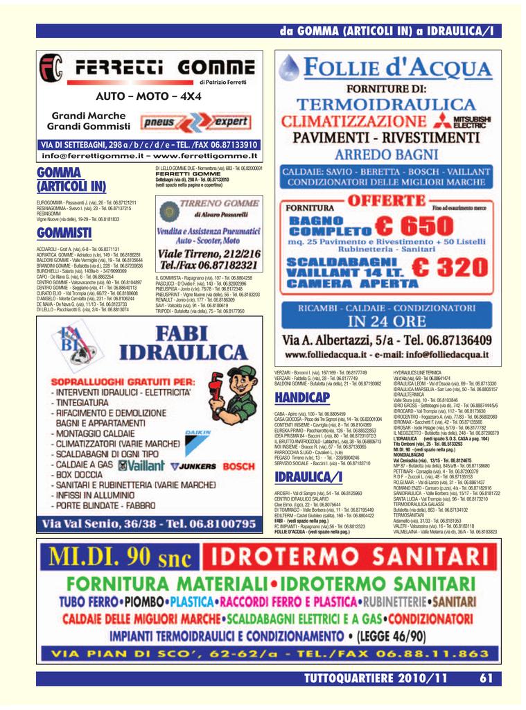 Idrogross Ceramiche Via Di Settebagni.Gomma Articoli In Gommisti Handicap Idraulica I