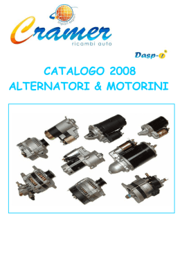 CATALOGO 2008 ALTERNATORI & MOTORINI