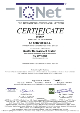 AD SERVICE S.R.L. Quality Management System
