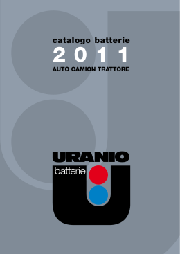 catalogo batterie