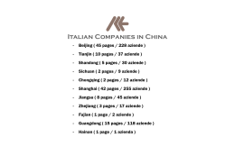 The Italian Companies in Chongqing
