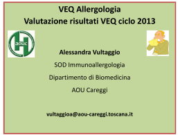 La VEQ in Allergologia