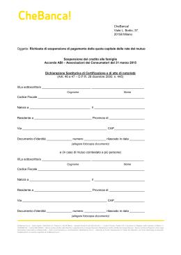 contratto di conto corrente e carte di pagamento