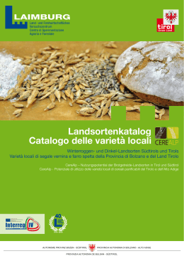 CereAlp Landsortenkatalog - Land