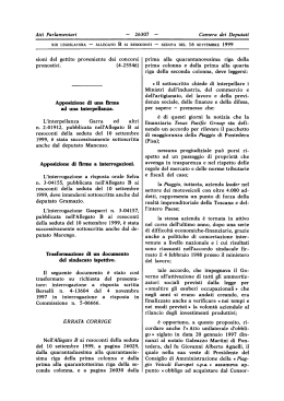 Modifiche ad atti - XIII Legislatura