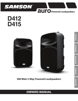 400 Watt 2-Way Powered Loudspeakers