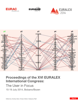 Proceedings of the XVI EURALEX International Congress: The User