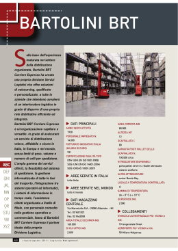 BARTOLINI BRT - Logistica Management