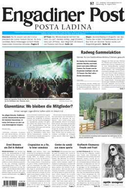 Engadiner Post Nr. 097 vom 21. August 2014