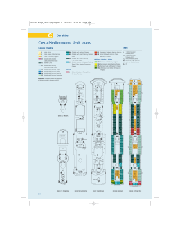 Costa Mediterranea deck plans