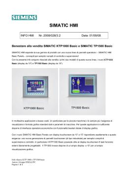 HMI Panel Siemens Simatic kp300 BASIC MONO PN 6av6647-0ah11-3ax0-1 generazione