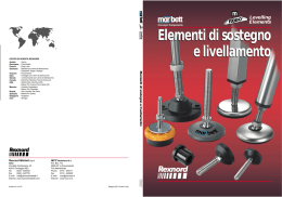 Elementi di sostegno e livellamento Catalogue supporting and