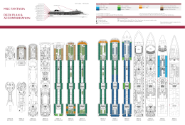 MSC FANTASIA DECK PLAN & ACCOMMODATION