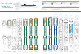 MSC SPLENDIDA DECK PLAN & ACCOMMODATION