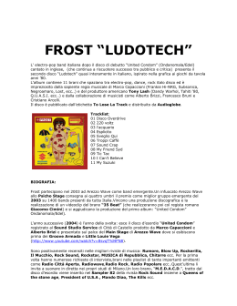 "FROST ""LUDOTECH"" - To Lose La Track"