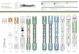 MSC MAGNIFICA DeCk PlAN & ACCoMMoDAtIoN