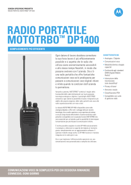 Brochure radio Motorola DP1400