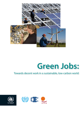 Green Jobs: Towards decent work in a sustainable, low