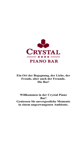 in der Crystal Piano Bar!