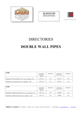 DIRECTORIES DOUBLE WALL PIPES