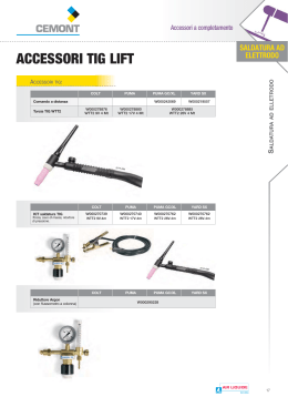 ACCESSORI TIG LIFT - Catalogo CEMONT 2013