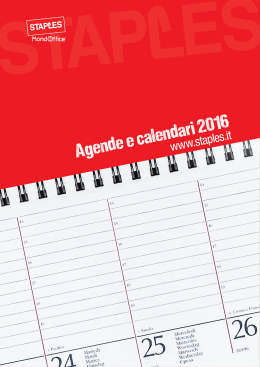 Catalogo Mondoffice-Staples ``Agende 2016`