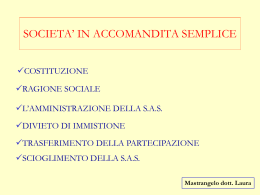 SOCIETA` IN ACCOMANDITA SEMPLICE
