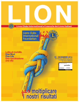 Dicembre 2014 - Lions Club International – Multidistretto 108 ITALY