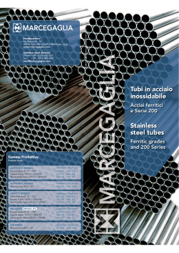 Tubi in acciaio inossidabile, Stainless steel tubes