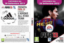 PRENOTA FIFA 13 E RICEVI L`ADIDAS ALL-STAR TEAM - Db-Line