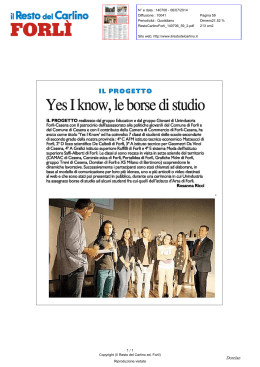 Yes I know ,le borse di studio