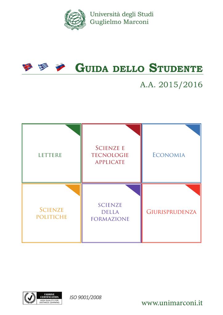 Calendario Esami Unimarconi.Guida Dello Studente Universita Degli Studi Guglielmo Marconi