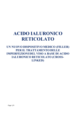 ACIDO IALURONICO RETICOLATO
