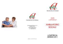 AMBULATORIO AMBULATORIO SOCIALE
