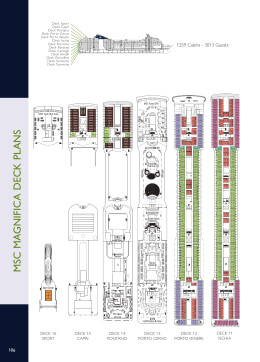 MSC MA GNIFIC A DECK PLANS