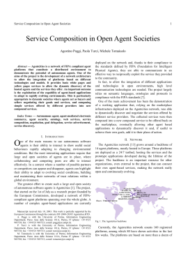 Service Composition in Open Agent Societies