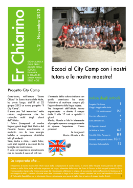 Eccoci al City Camp con i nostri tutors e le nostre maestre!
